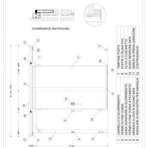 Schema P Scorrevole manuale